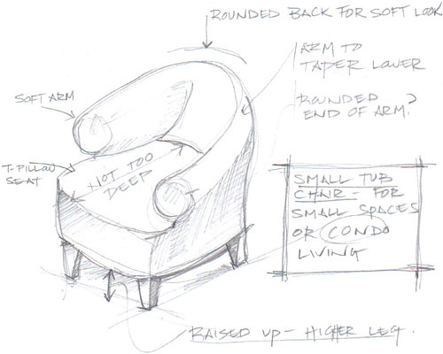 The Stephanie Chair Drawing