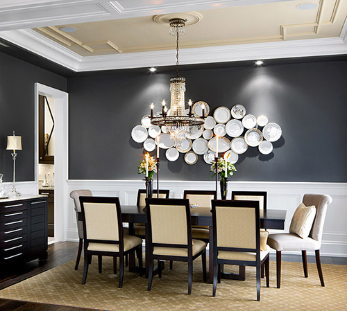 Top 5 gray paint colours for walls - Black walls in dining room ...