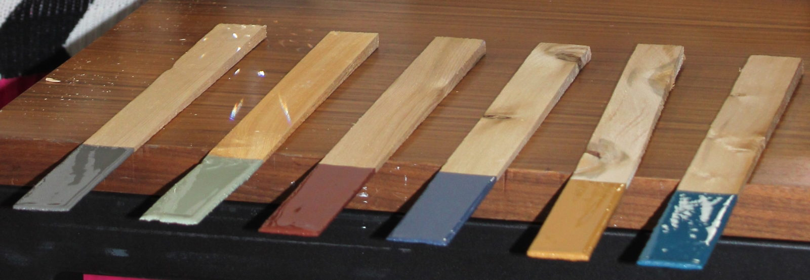 paint colors on stir sticks