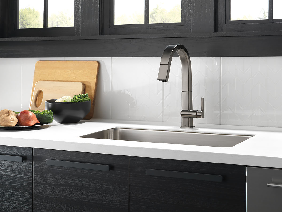 Delta Faucet Canada's Pivotal™ in Black stainless