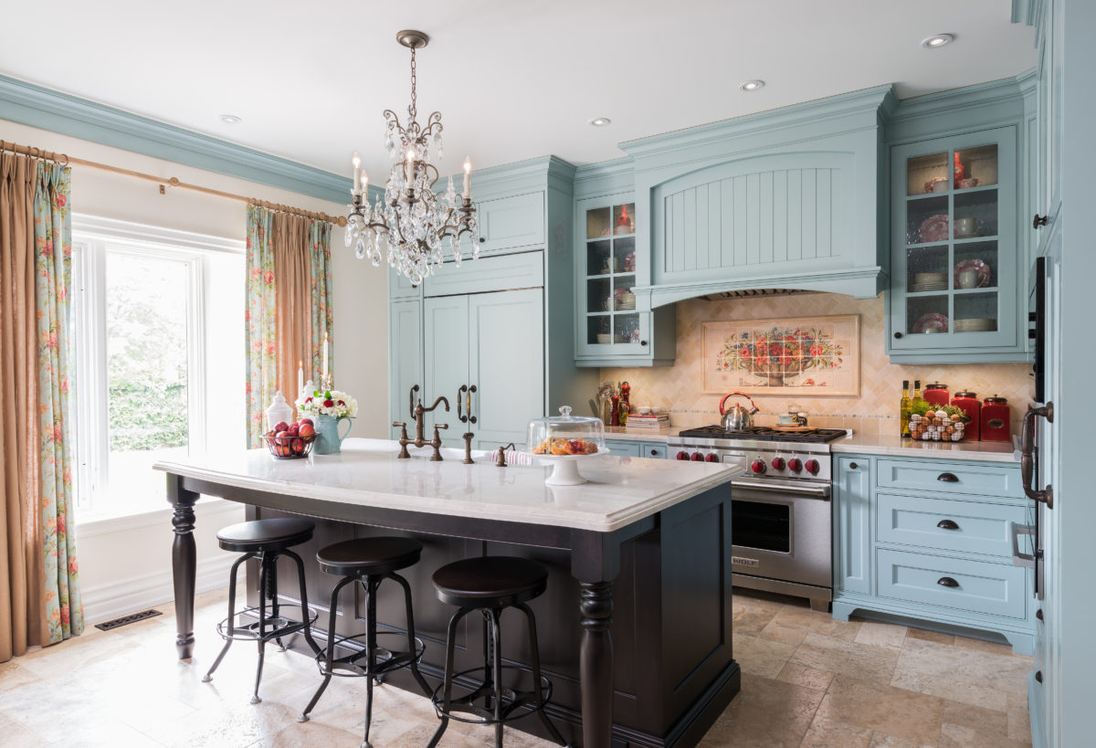 French Blue Kitchen