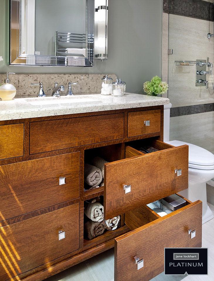 clever vanity storage design