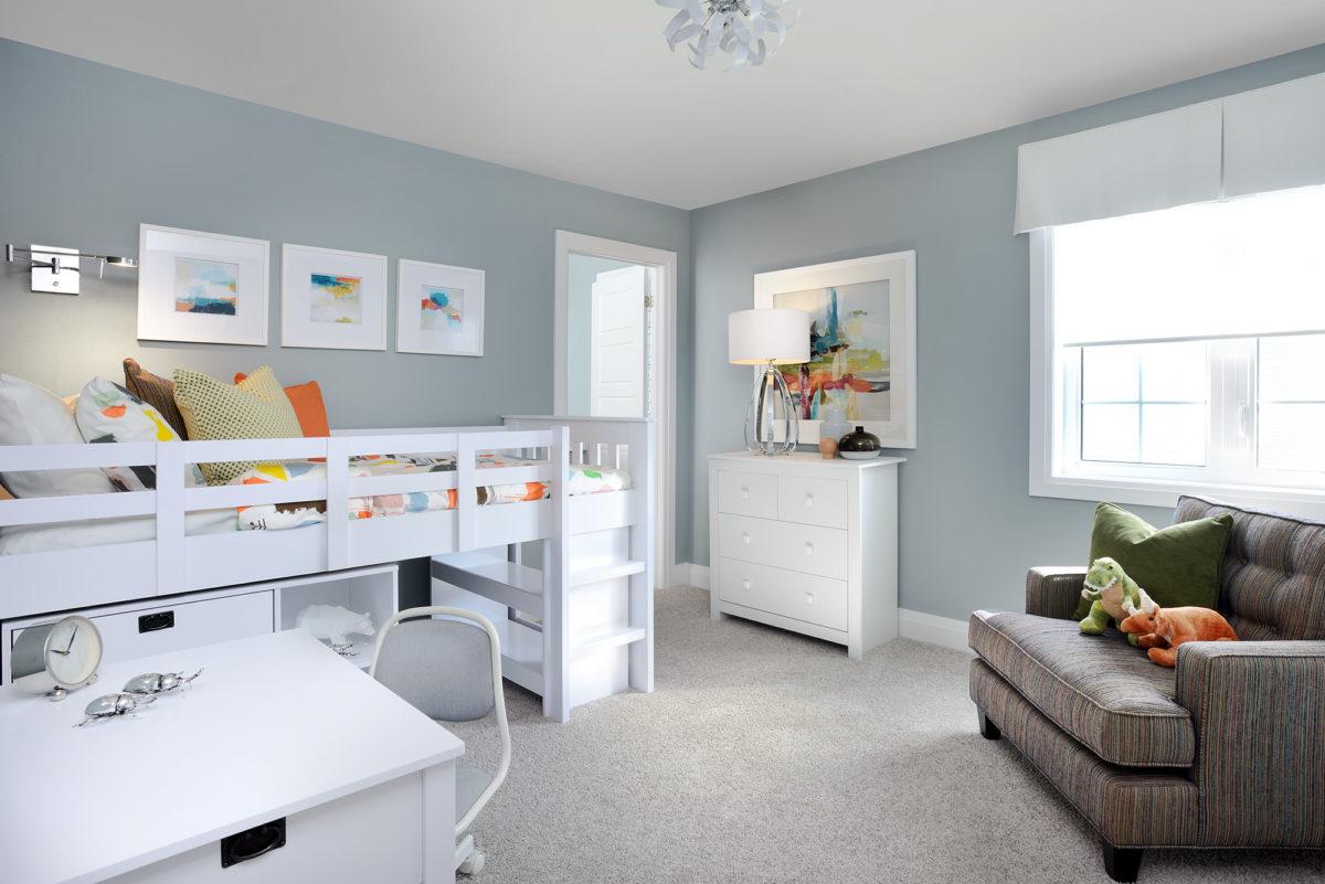 Work, play, sleep, read in a kids bedroom