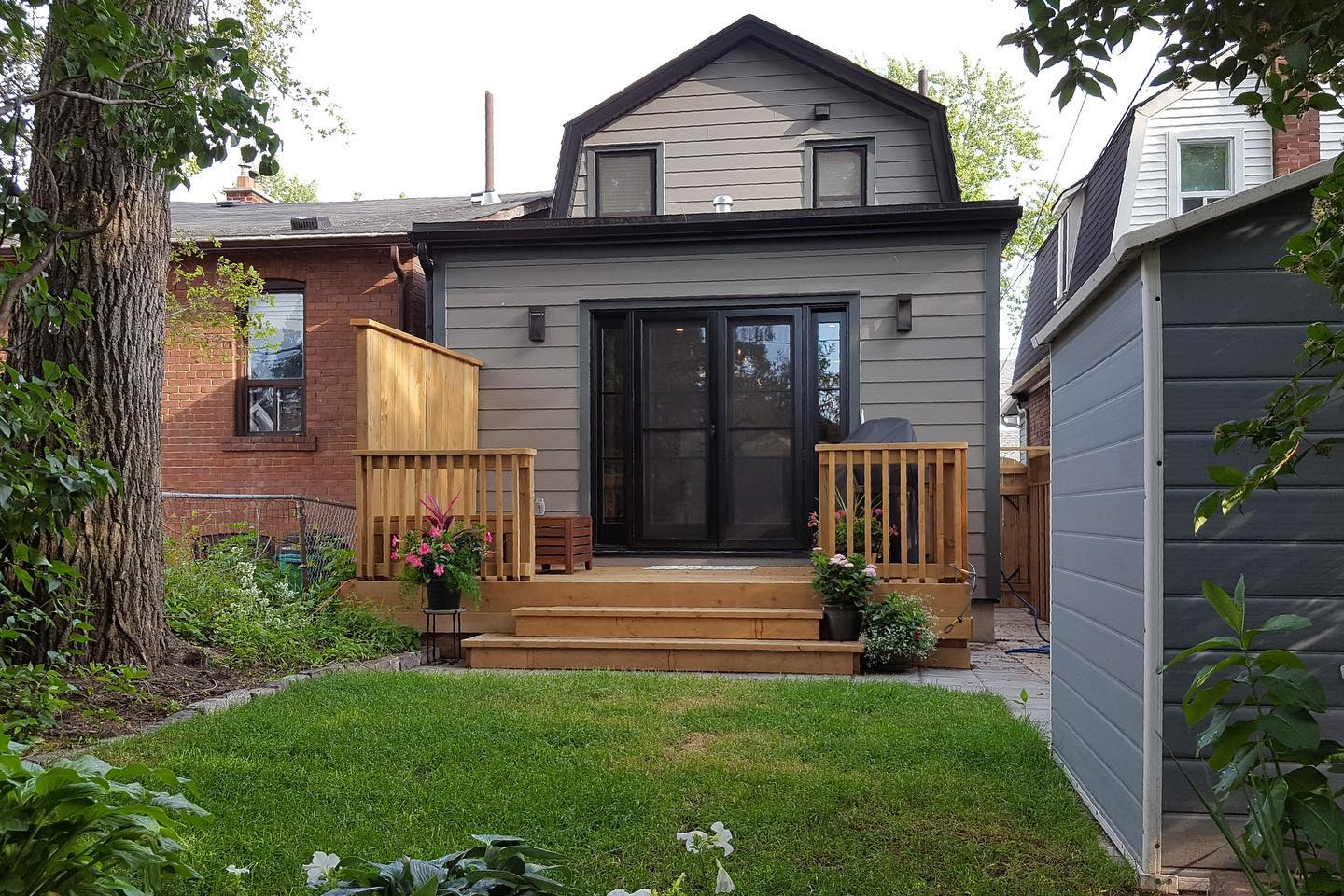 Exterior after: kitchen addition
