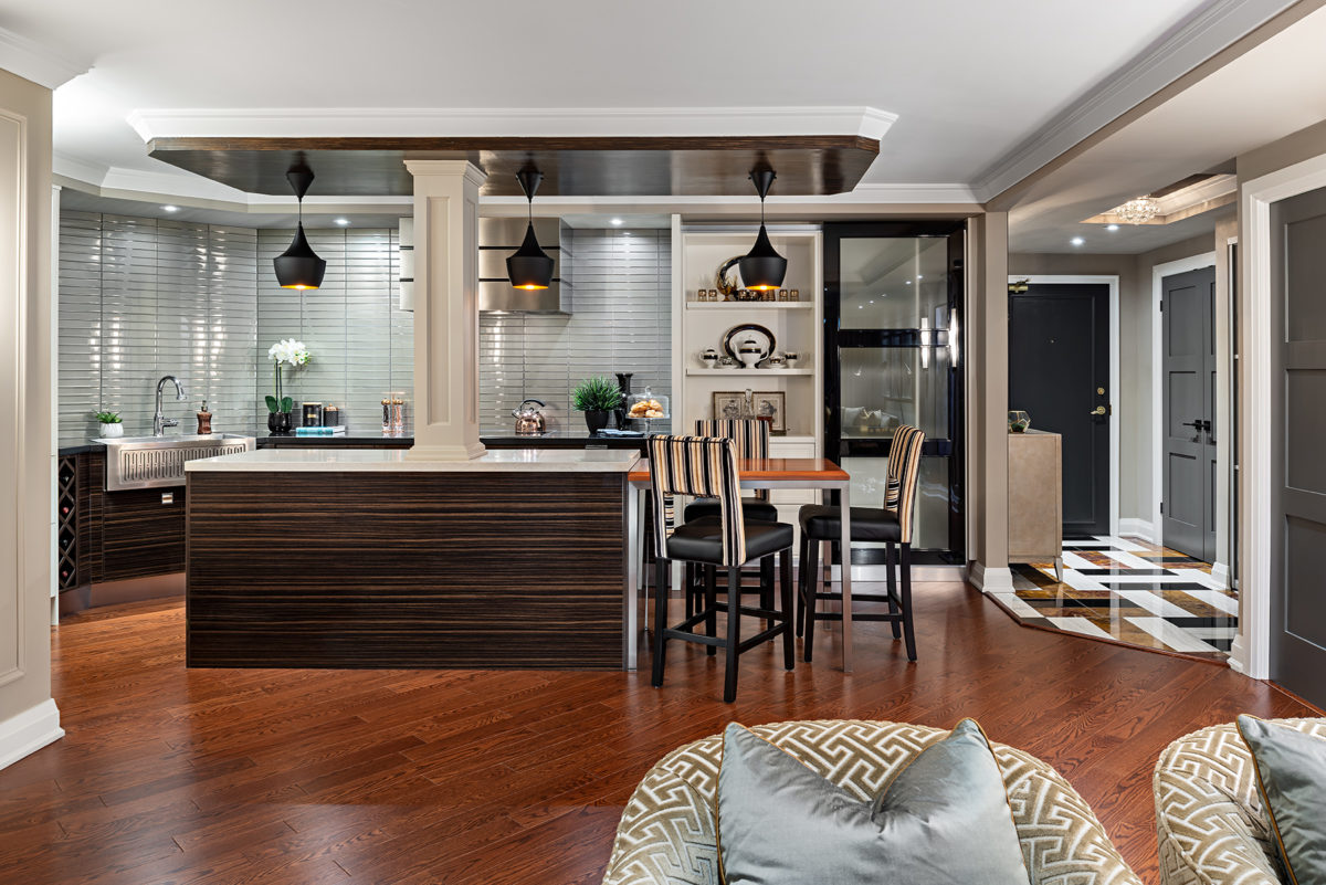 Open concept modern kitchen