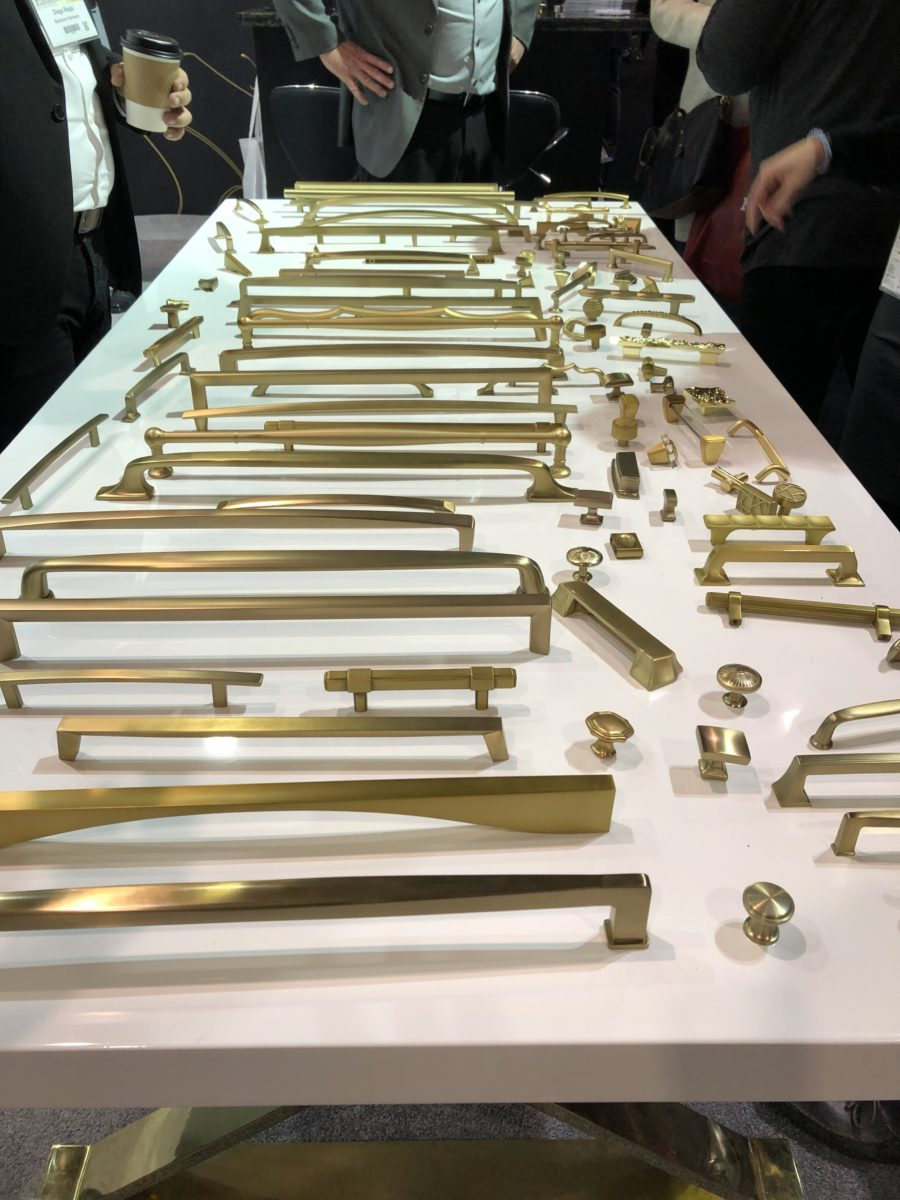 Berenson Hardware collections in brushed gold