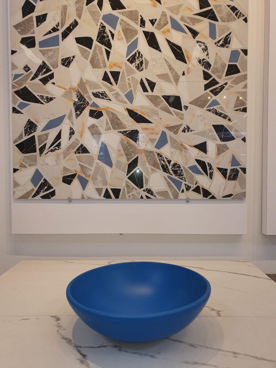 Colourful modern mosaic tile
