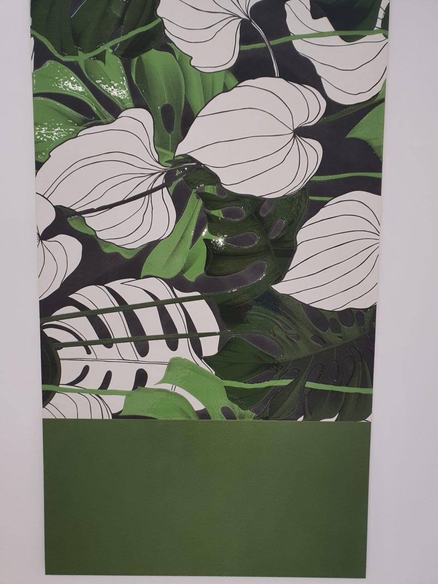 Colour, textured porcelain