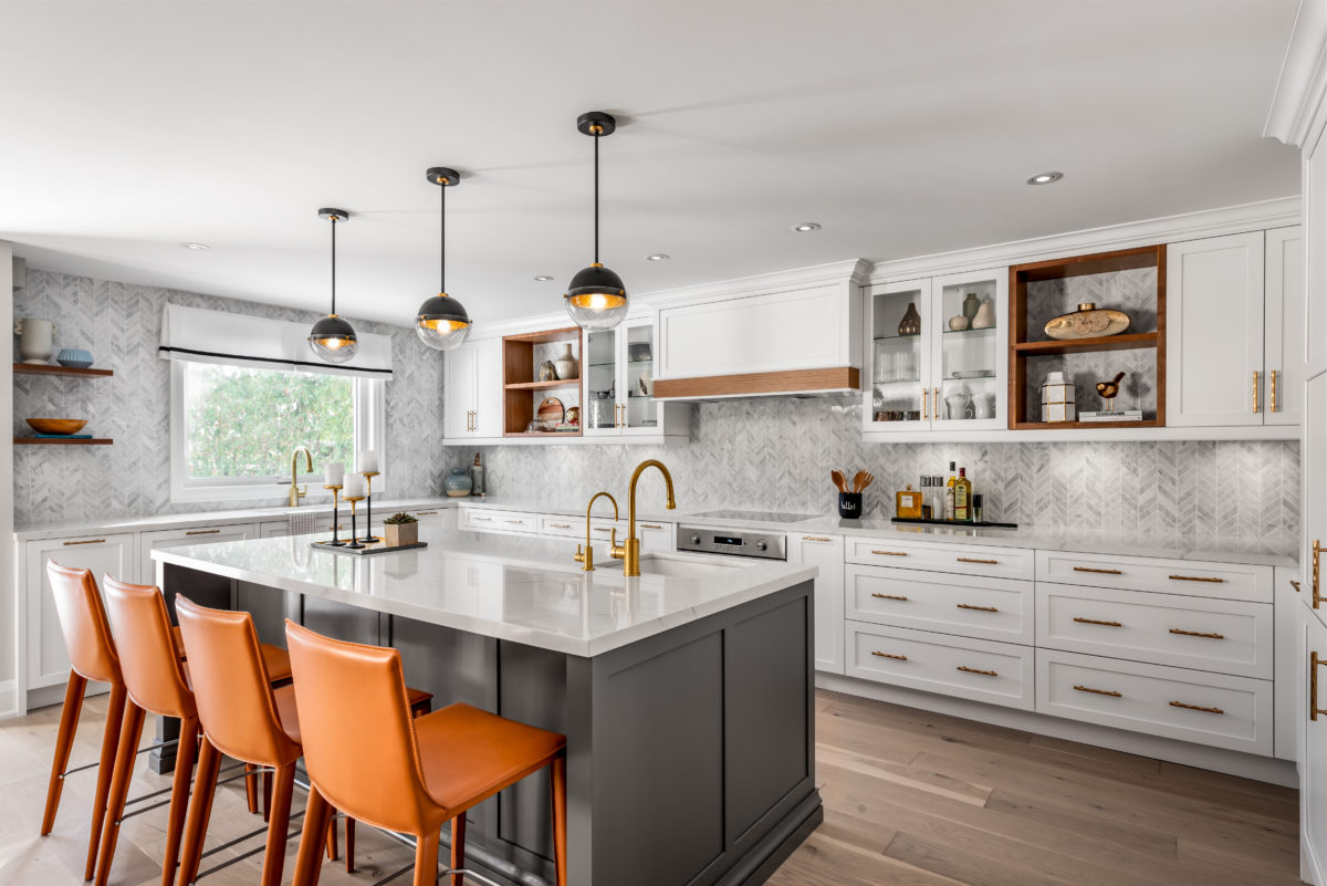 Contemporary renovated kitchen