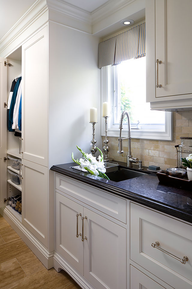 The best closet solutions for small spaces mudroom and sink area