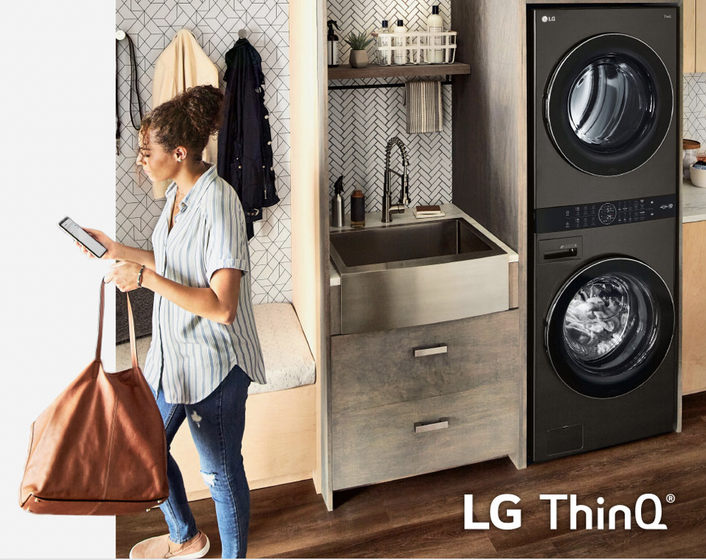 LG WashTower™ ThinQ technology