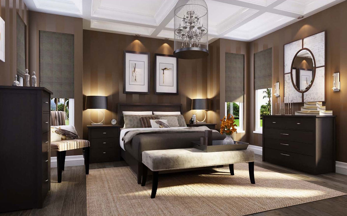 3D Rendering Of A Bedroom.