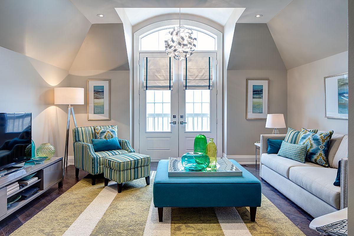 Blue Interior Design Model living rooms & family rooms | jane lockhart interior design