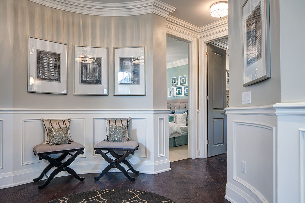 In An Entry Hall Jane Lockhart Platinum Painted Wood Cabinetry Create A Stunning And Practical Kid Friendly Seating Area