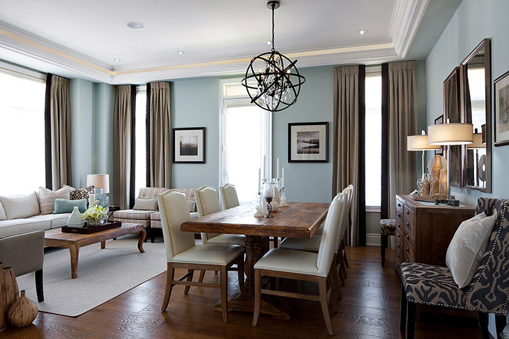 Dining rooms jane lockhart interior design for Combined living and dining room decorating ideas