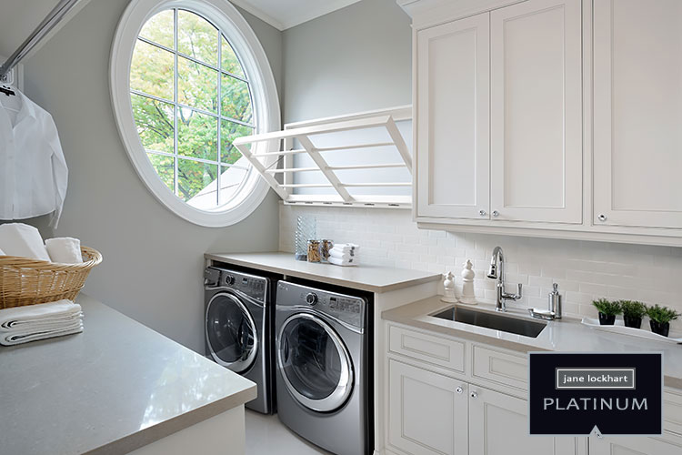 New craftsman style jane lockhart interior design for Second floor laundry