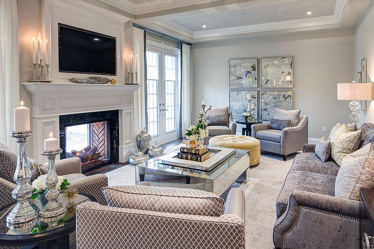 Copperwood kleinburg model home - Living room design ideas and photos ...